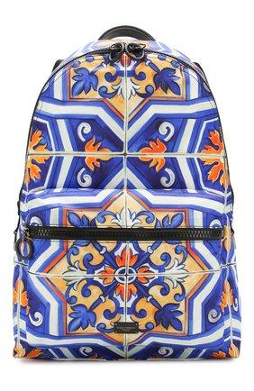 Мужской текстильный рюкзак DOLCE & GABBANA синего цвета, арт. BM1607/AX534 | Фото 1