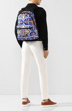 Мужской текстильный рюкзак DOLCE & GABBANA синего цвета, арт. BM1607/AX534 | Фото 2