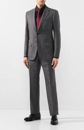 Мужская рубашка из смеси хлопка и шелка BRIONI черного цвета, арт. RCLU1U/0Z006 | Фото 2