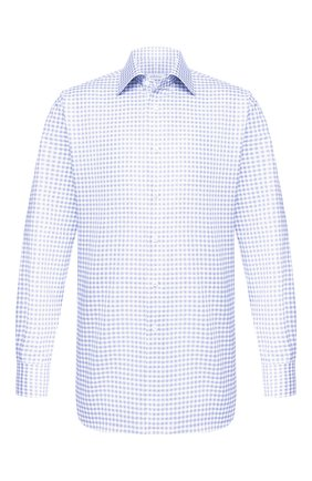 Мужская хлопковая сорочка BRIONI голубого цвета, арт. RCLU1S/P909H | Фото 1