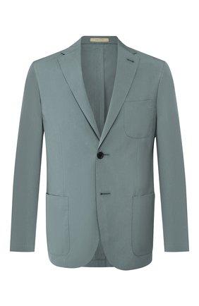Мужской пиджак из смеси хлопка и шелка CORNELIANI зеленого цвета, арт. 85X576-0113000/90 | Фото 1