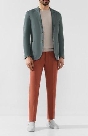 Мужской пиджак из смеси хлопка и шелка CORNELIANI зеленого цвета, арт. 85X576-0113000/90 | Фото 2