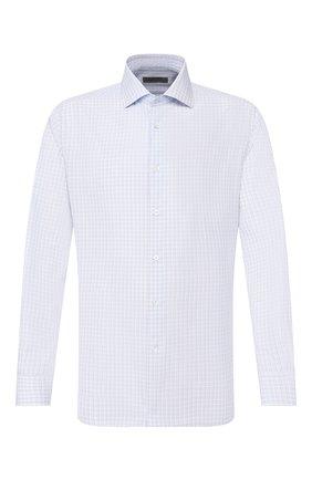 Мужская хлопковая сорочка CORNELIANI голубого цвета, арт. 85P100-0111530/00 | Фото 1