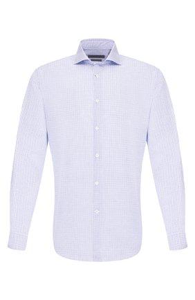 Мужская хлопковая сорочка CORNELIANI синего цвета, арт. 85P002-0111509/00 | Фото 1