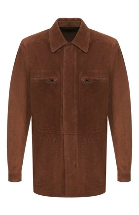 Мужская замшевая куртка CORNELIANI коричневого цвета, арт. 8525W2-0120103/00   Фото 1