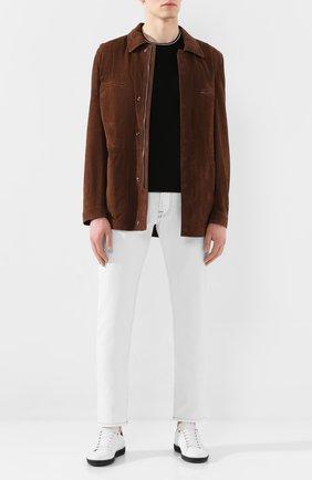 Мужская замшевая куртка CORNELIANI коричневого цвета, арт. 8525W2-0120103/00   Фото 2