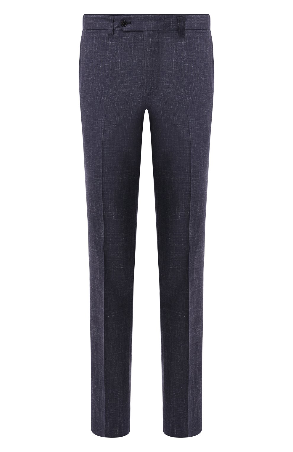 Мужские брюки из смеси шерсти и шелка LUCIANO BARBERA темно-синего цвета, арт. 114014/42705 | Фото 1