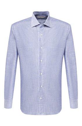 Мужская хлопковая сорочка LUCIANO BARBERA синего цвета, арт. 105469/60105 | Фото 1