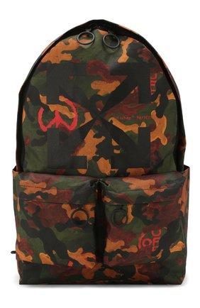 Мужской текстильный рюкзак OFF-WHITE хаки цвета, арт. 0MNB003R205210169910 | Фото 1