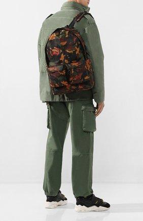 Мужской текстильный рюкзак OFF-WHITE хаки цвета, арт. 0MNB003R205210169910 | Фото 2