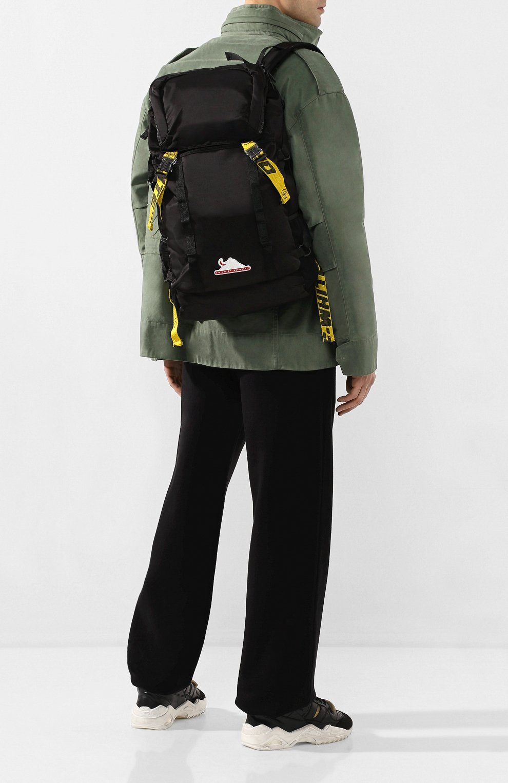 Мужской текстильный рюкзак OFF-WHITE черного цвета, арт. 0MKN001R20E480011000 | Фото 2