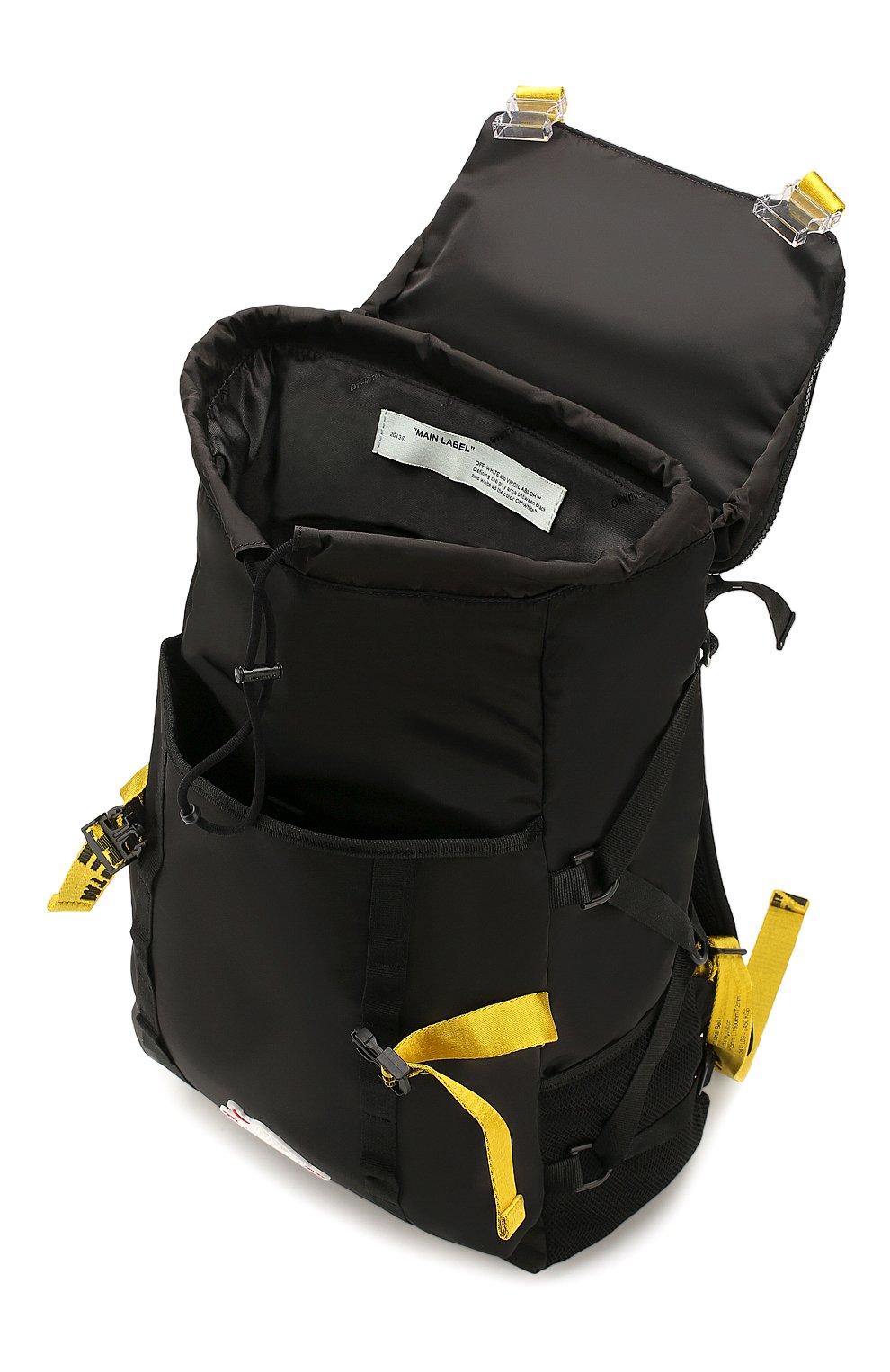 Мужской текстильный рюкзак OFF-WHITE черного цвета, арт. 0MKN001R20E480011000 | Фото 3