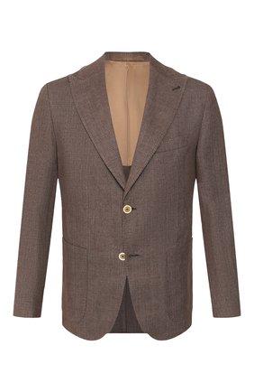 Мужской пиджак из смеси льна и хлопка ELEVENTY коричневого цвета, арт. A70GIAA05 TES0A043 | Фото 1