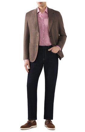 Мужской пиджак из смеси льна и хлопка ELEVENTY коричневого цвета, арт. A70GIAA05 TES0A043 | Фото 2