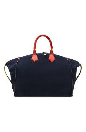 Мужская замшевая дорожная сумка edge DOLCE & GABBANA синего цвета, арт. BM1789/AJ767 | Фото 1