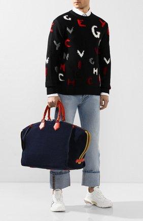 Мужская замшевая дорожная сумка edge DOLCE & GABBANA синего цвета, арт. BM1789/AJ767 | Фото 2