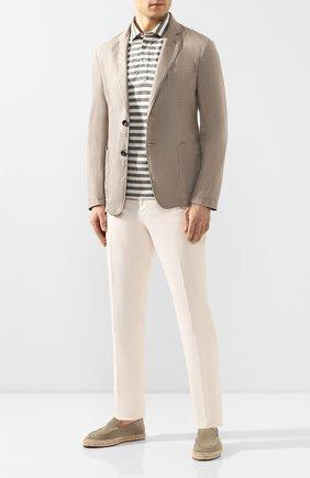 Мужской пиджак из смеси льна и хлопка GIORGIO ARMANI бежевого цвета, арт. 0SGGG0D9/T01FI   Фото 2