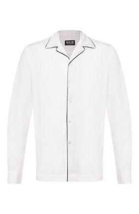 Мужская хлопковая рубашка GIORGIO ARMANI белого цвета, арт. 0SGCCZ29/TZ567 | Фото 1