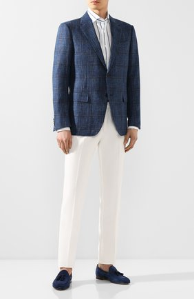 Мужская льняная рубашка RALPH LAUREN разноцветного цвета, арт. 790791907 | Фото 2