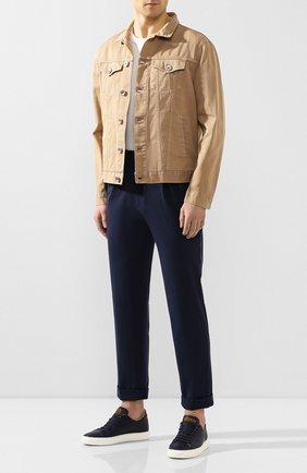 Мужской брюки KNT темно-синего цвета, арт. UPS0102K06S41 | Фото 2
