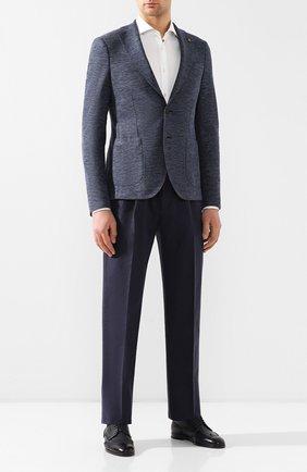 Мужской пиджак из смеси хлопка и льна SARTORIA LATORRE синего цвета, арт. JF74 JE2123 | Фото 2