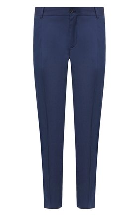 Мужские брюки из смеси хлопка и шелка DOLCE & GABBANA темно-синего цвета, арт. GW1WET/FU5SW   Фото 1