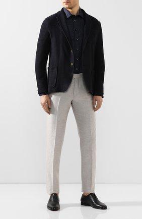 Мужские кожаные оксфорды SANTONI темно-синего цвета, арт. MCNC15963SA3SDPSU53 | Фото 2