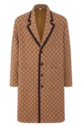 Мужской шерстяное пальто GUCCI бежевого цвета, арт. 598710/Z8AF1 | Фото 1