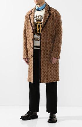 Мужской шерстяное пальто GUCCI бежевого цвета, арт. 598710/Z8AF1 | Фото 2