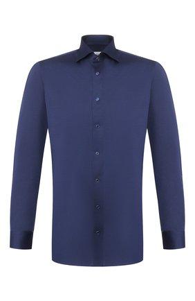 Мужская хлопковая рубашка ZILLI темно-синего цвета, арт. MFT-MERCU-56014/RJ01 | Фото 1