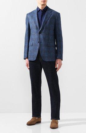 Мужская хлопковая рубашка ZILLI темно-синего цвета, арт. MFT-MERCU-56014/RJ01 | Фото 2
