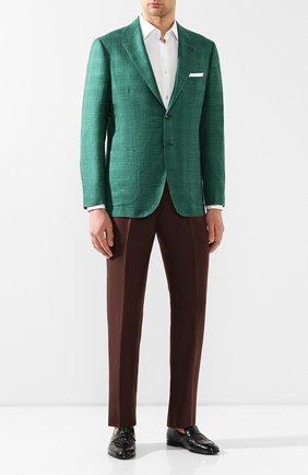 Мужской пиджак из смеси кашемира и шелка KITON зеленого цвета, арт. UG81K06S18 | Фото 2