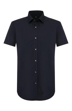Мужская хлопковая сорочка BOSS голубого цвета, арт. 50427548 | Фото 1
