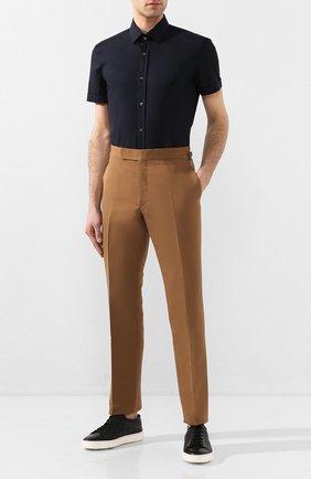 Мужская хлопковая сорочка BOSS голубого цвета, арт. 50427548 | Фото 2