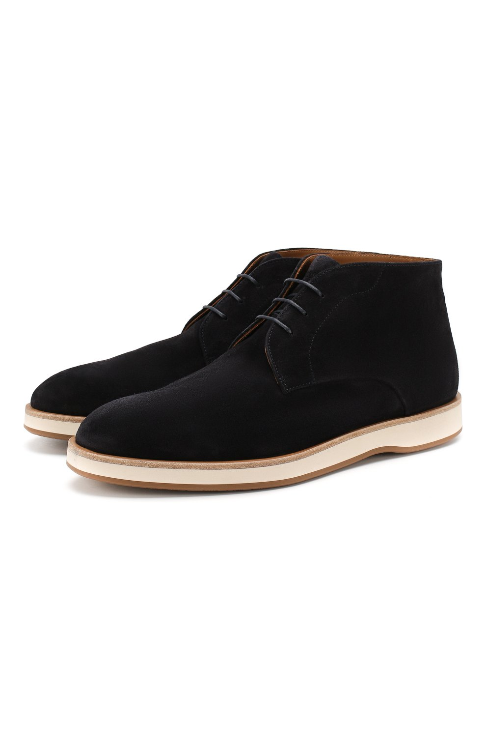 Мужские замшевые ботинки BOSS синего цвета, арт. 50407945 | Фото 1