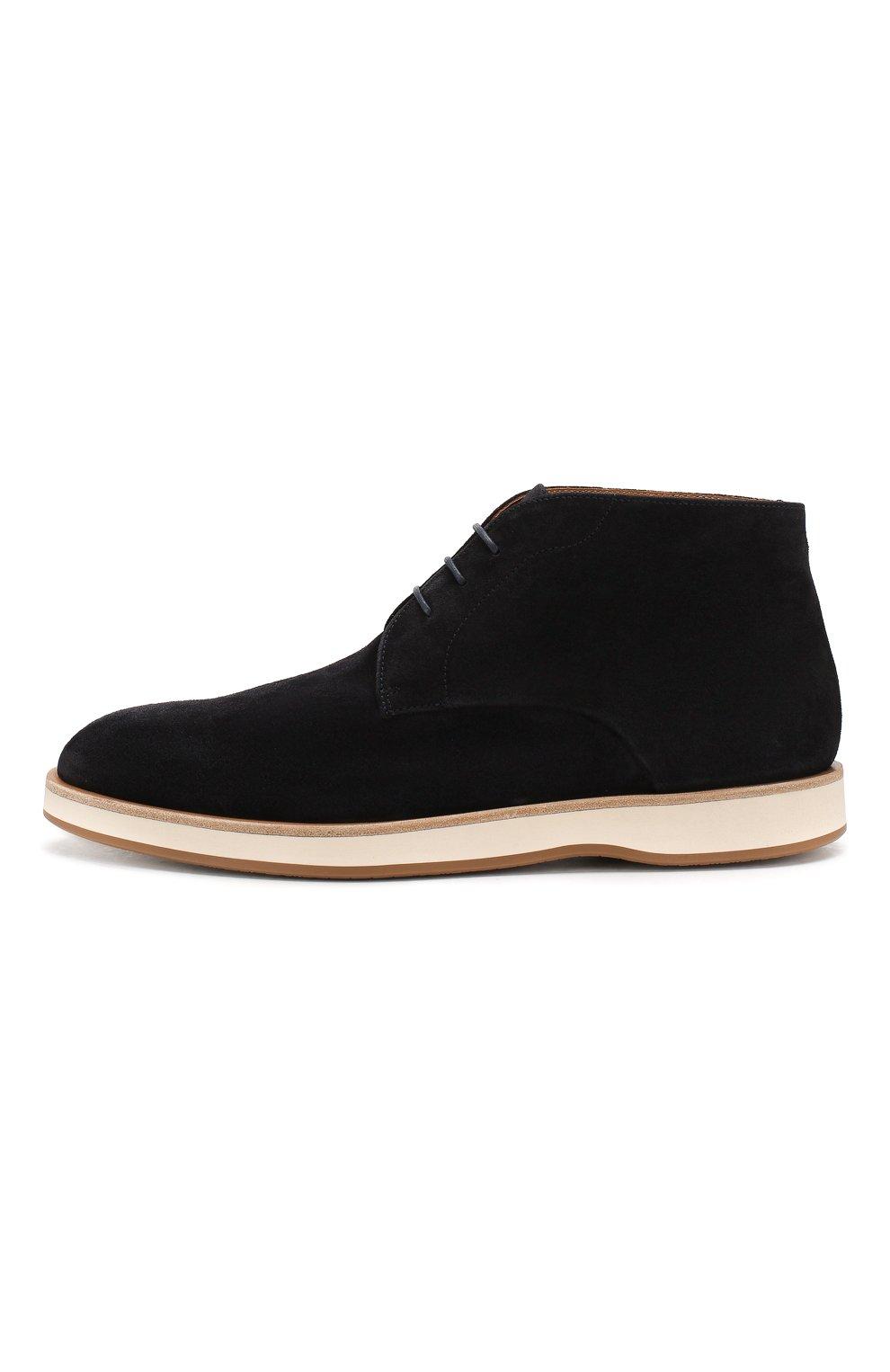 Мужские замшевые ботинки BOSS синего цвета, арт. 50407945 | Фото 3