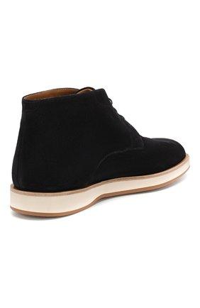 Мужские замшевые ботинки BOSS синего цвета, арт. 50407945 | Фото 4