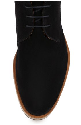 Мужские замшевые ботинки BOSS синего цвета, арт. 50407945 | Фото 5