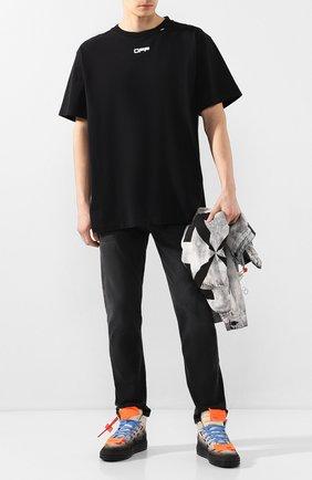 Мужские кожаные кеды off-court 3.0 OFF-WHITE бежевого цвета, арт. 0MIA065S20G930434810 | Фото 2