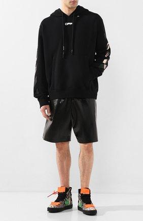 Мужские кожаные кеды off-court 3.0 OFF-WHITE коричневого цвета, арт. 0MIA065S20D680209900 | Фото 2