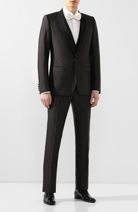 Мужские кожаные оксфорды SAINT LAURENT черного цвета, арт. 607931/0D500 | Фото 2