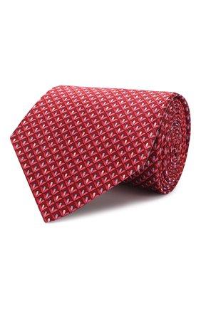 Мужской комплект из галстука и платка LANVIN красного цвета, арт. 4250/TIE SET | Фото 1