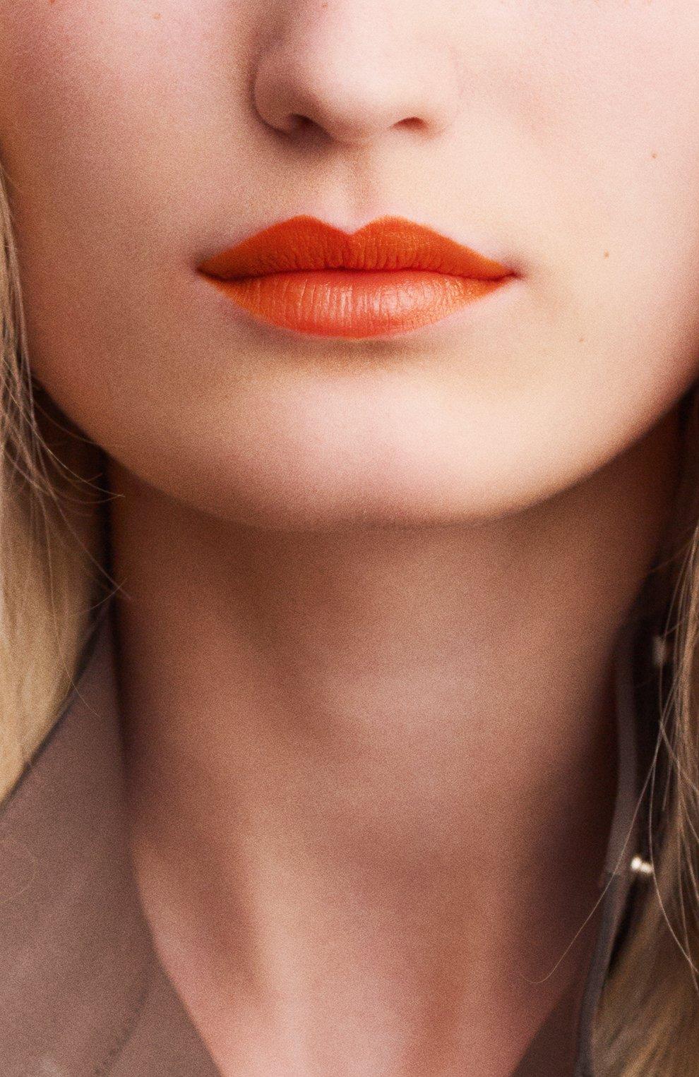 Женская атласная губная помада rouge hermès, orange boîte HERMÈS бесцветного цвета, арт. 60001SV033H | Фото 5