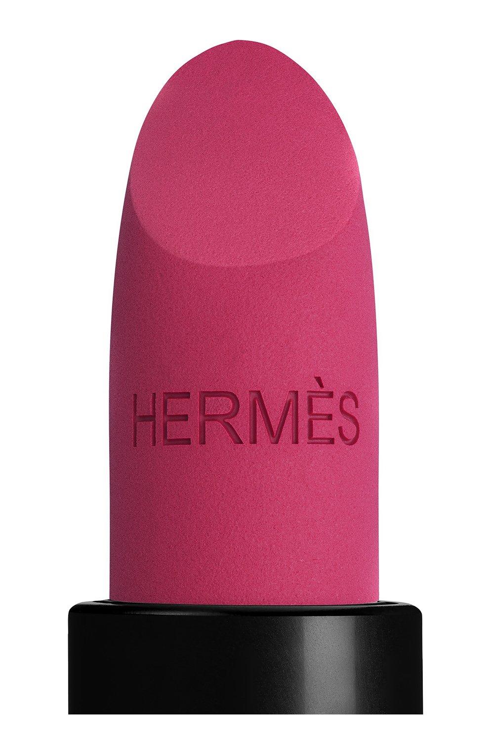 Женская матовая губная помада rouge hermès, rose velours HERMÈS бесцветного цвета, арт. 60001MV078H   Фото 10