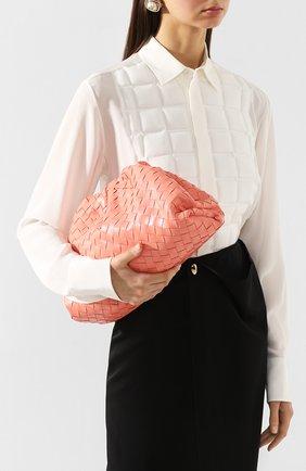 Женский клатч pouch BOTTEGA VENETA кораллового цвета, арт. 576175/VCPP0 | Фото 2