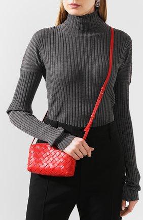 Женская сумка BOTTEGA VENETA красного цвета, арт. 609407/VCPP5 | Фото 2