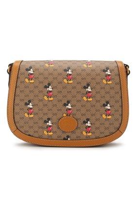 Женская сумка disney x gucci GUCCI коричневого цвета, арт. 602694/HWUBM | Фото 1