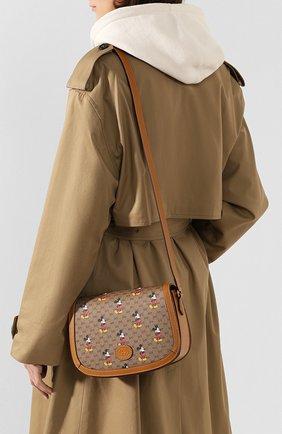 Женская сумка disney x gucci GUCCI коричневого цвета, арт. 602694/HWUBM | Фото 2