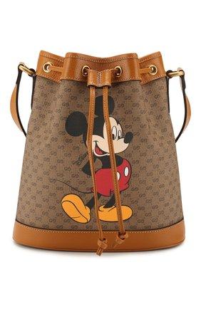 Женская сумка disney x gucci GUCCI коричневого цвета, арт. 602691/HWXAM | Фото 1