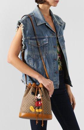Женская сумка disney x gucci GUCCI коричневого цвета, арт. 602691/HWXAM | Фото 2